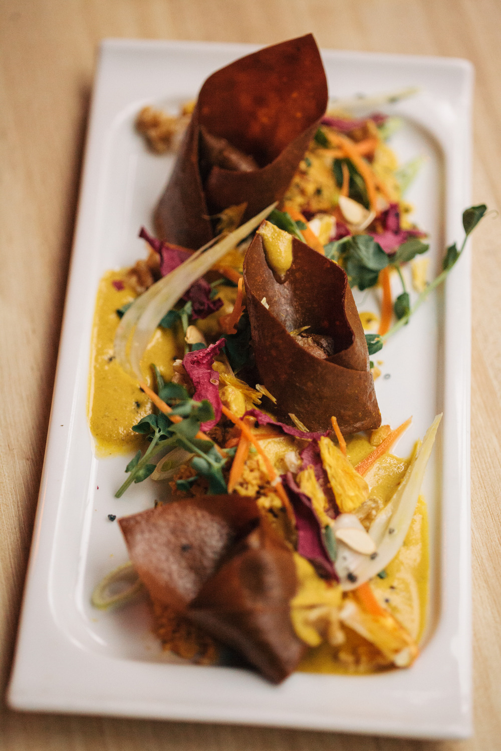 The annual   Dine Out Vancouver Festival   is almost at a close (the last day is Jan 31st), and I definitely got to try my fair share of food.  Barre Fitness tasked me with covering some of the healthier, sustainable, and of course delicious, options at some of Vancouver's best and newest establishments.  Here are the posts for the following restaurants, with my favourite dish from each:   Zend   - Herbed & Mole Spiced Tomato Truffles   Forage   - Chermoula Spiced Ancient Grains   Juniper   - Vegan Peanut Butter Nanaimo Bar   ORU   - Foraged Mushroom Tart   I already can't wait until next year!