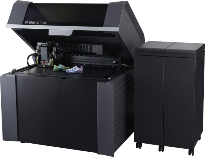 Stratasys' innovative J750 printer, which can print up to 6 different materials and over 500,000 color combinations — whoa! [Photo courtesy of Shapeways]