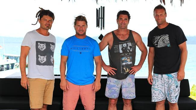 Pictured above; musician Ash Grunwald, world champ surfer Mark Occhilupo, musician Pete Murray & Australian rugby league player Mark Gasnier