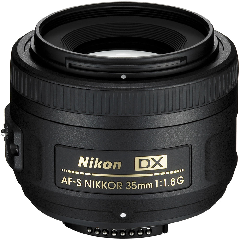 NIKON AF-S DX 35mm f1.8 - This is the lens I recommend pairing with the Nikon D5600 camera! They pair great together and it gets the job done! Since this lens is for cameras with cropped censors (such as the D5600), it actaully shoots more like a 50mm would on a professional level camera like my D750. Long story short,