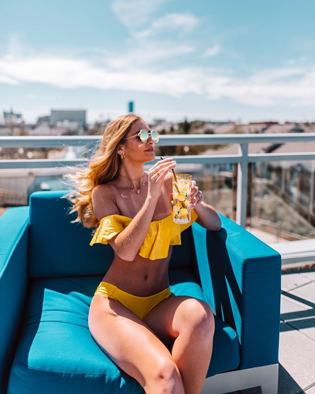 Here comes the sun🌞 I am all geared up and ready for summer wearing this bright yellow @trinaturk bikini from @zappos ! Head over to my blog to check out all the deets on this amazing suit and see more photos from this shoot! I having a feeling this suit and I are going to make many memories together this summer! #sponsored  #Zappos #DiveIntoZappos #TrinaTurkSwim