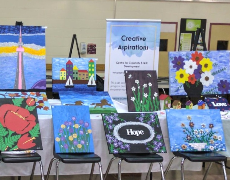 Some of our artwork on display....