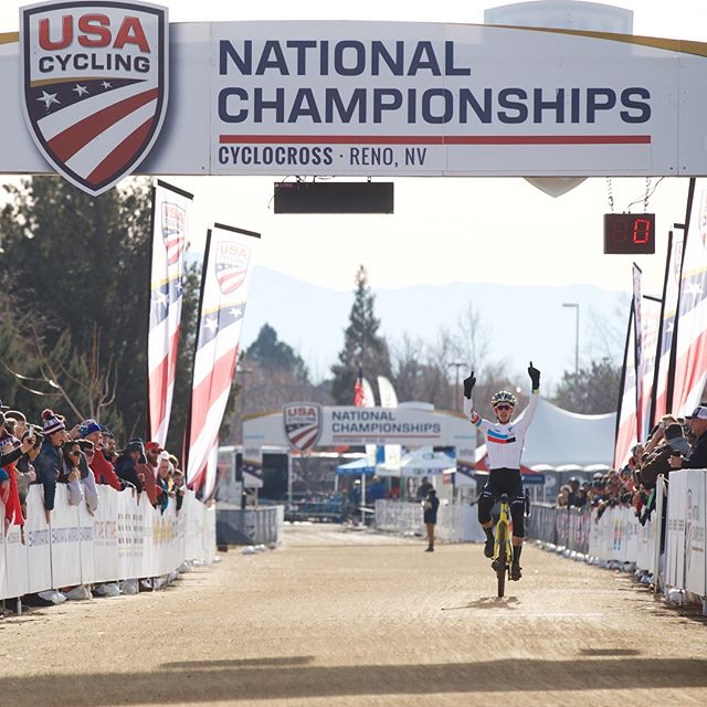 We have a new cyclocross national champion in the junior men's 17-18 with @bengomezvillafane .  It was one of those days where everything lined up perfectly.  Great ride Ben!! 📷 @garyperkin