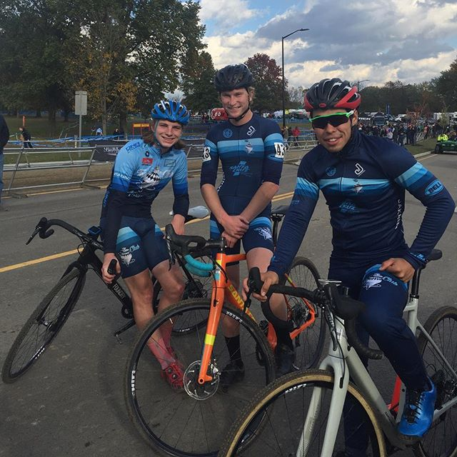 Love this photo.  Love this team.  This photo shows the friendship and team that brought these three amazing racers together.  Thanks @cincycx for a great weekend of racing.
