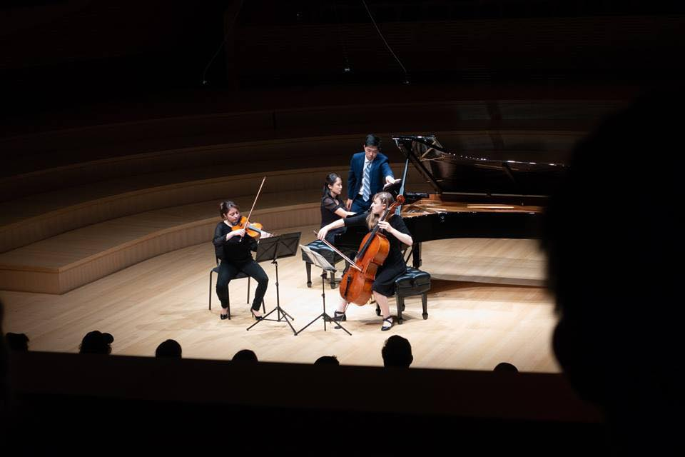 Performing Saariaho at the International Showcase at Bing Concert Hall for the 2018 SLSQ Seminar  June 30, 2018