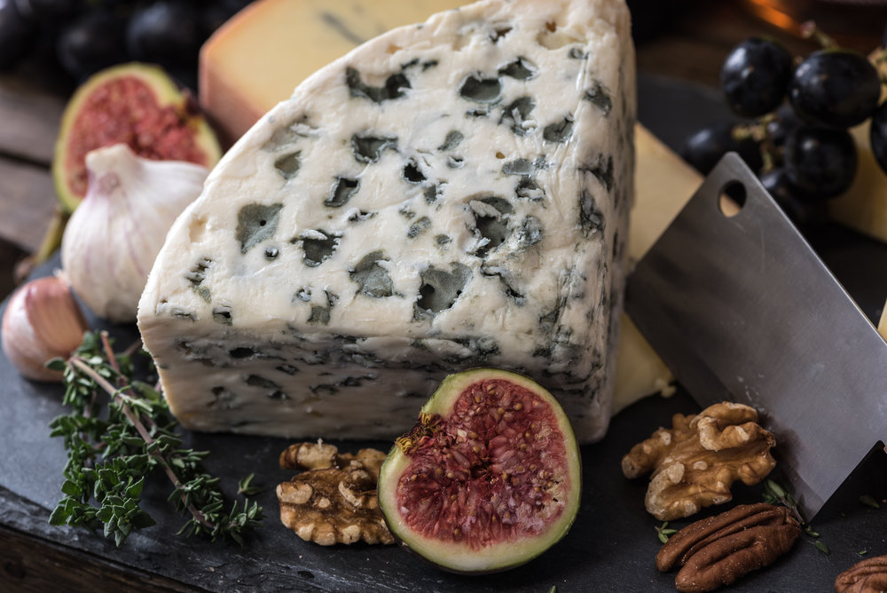Black figs with roquefort cheese and walnuts perfect summer food