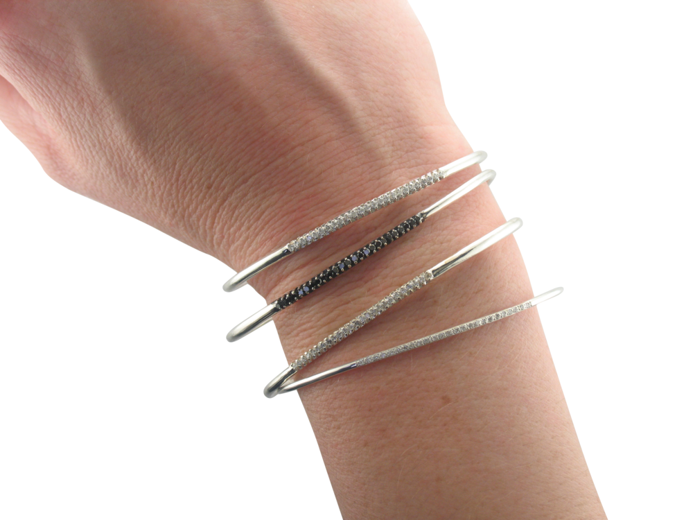 Wrist - Cuffs, Bangles, stackables, gemstones and diamonds. Arm Party.