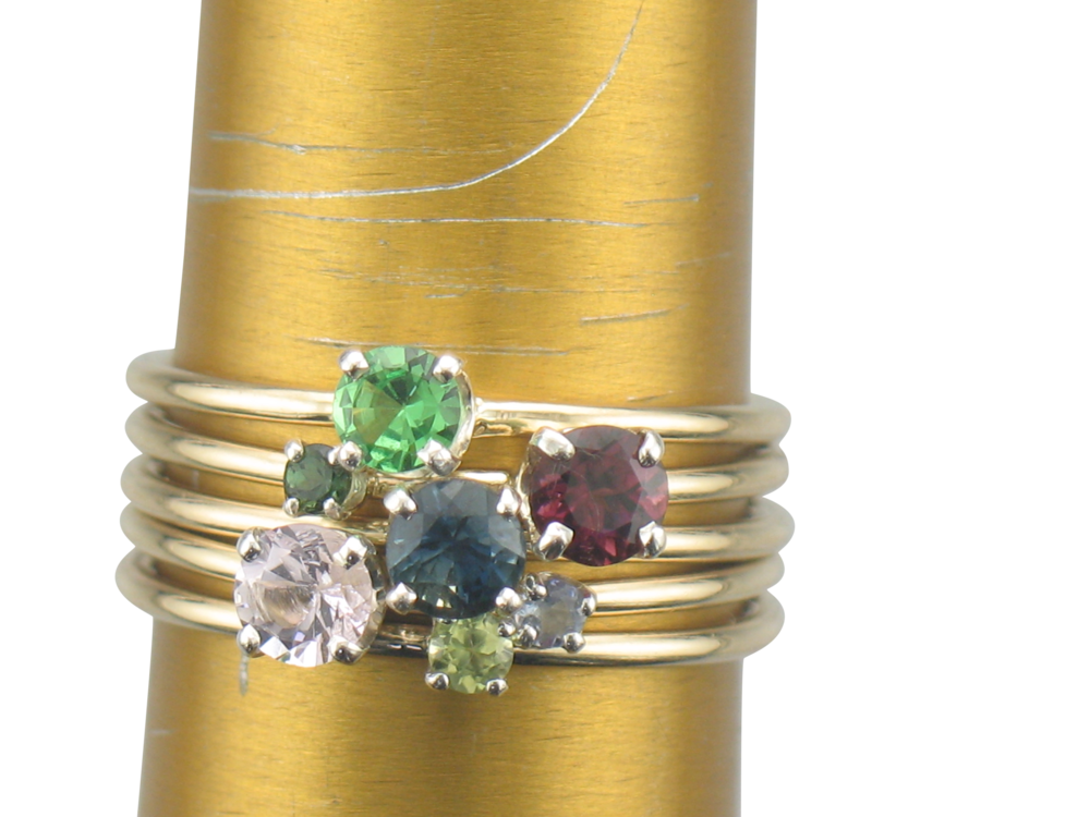 Fingers - Gemstone stacking rings - the more you wear, the more you rock.