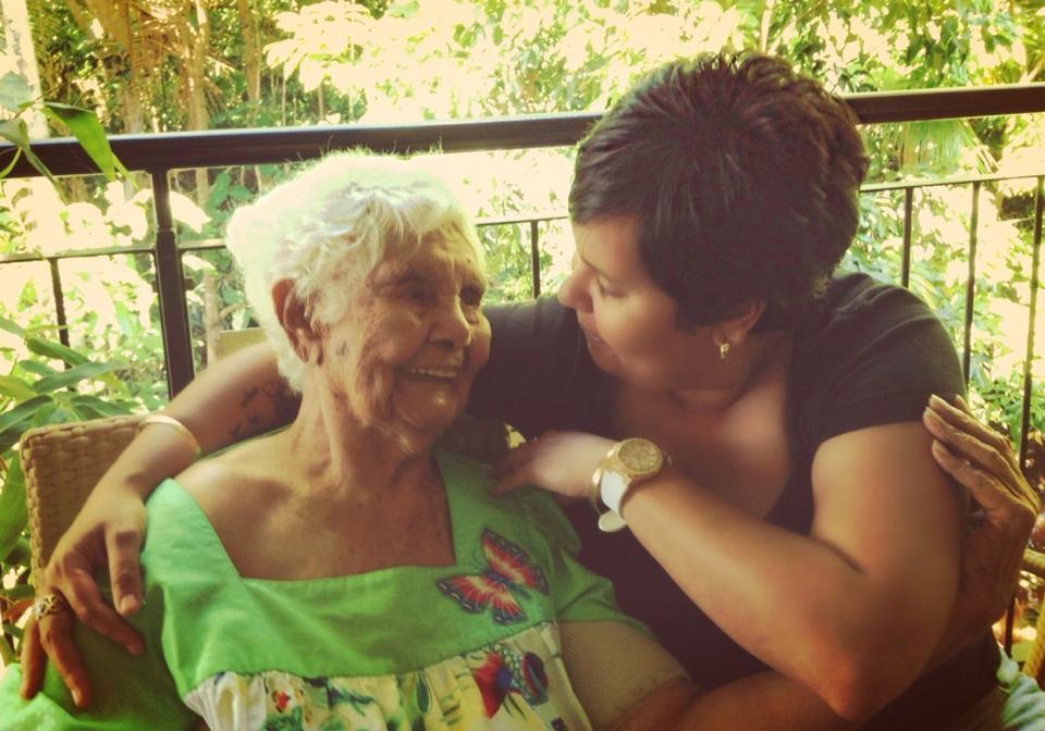 Myself and Granny Flora