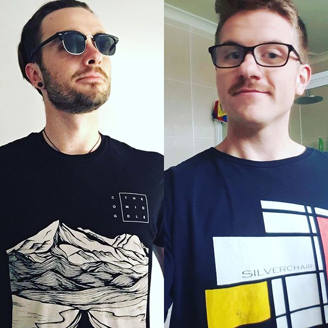 Tom and Brock rocking the @cog101 and @silverchair_official band shirts for #ausmusictshirtday two of australias finest!! Featuring Brocks seedy mo