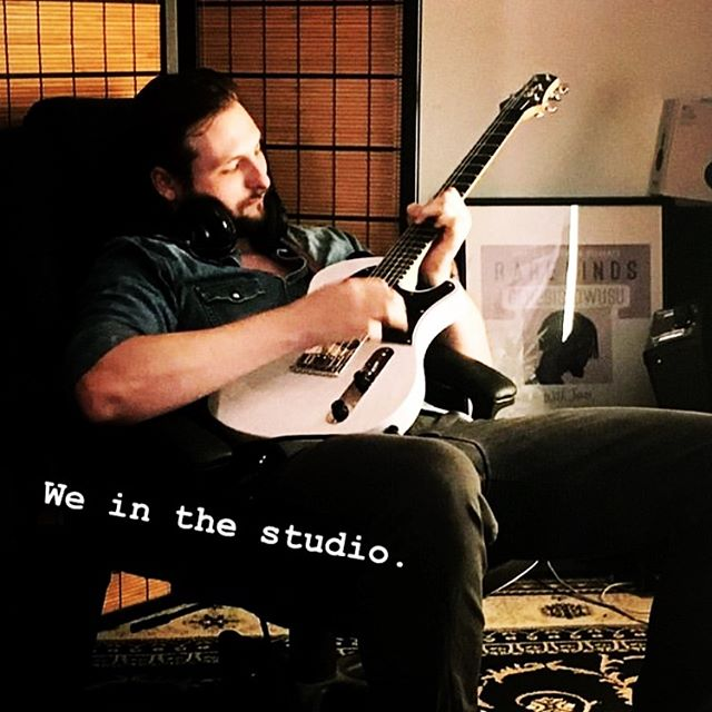Just incase we hadnt made it clear STUDIO TIME!!!! Just Callum getting lost in his @orthius_guitars