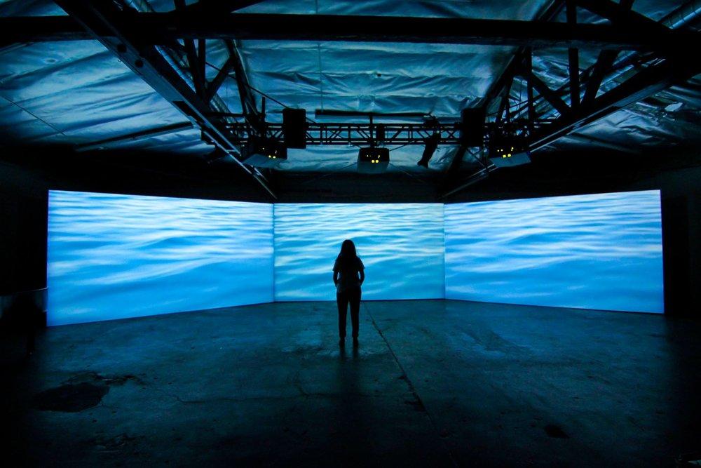 Multimedia displays highlighting Luys-i-Luyso installation