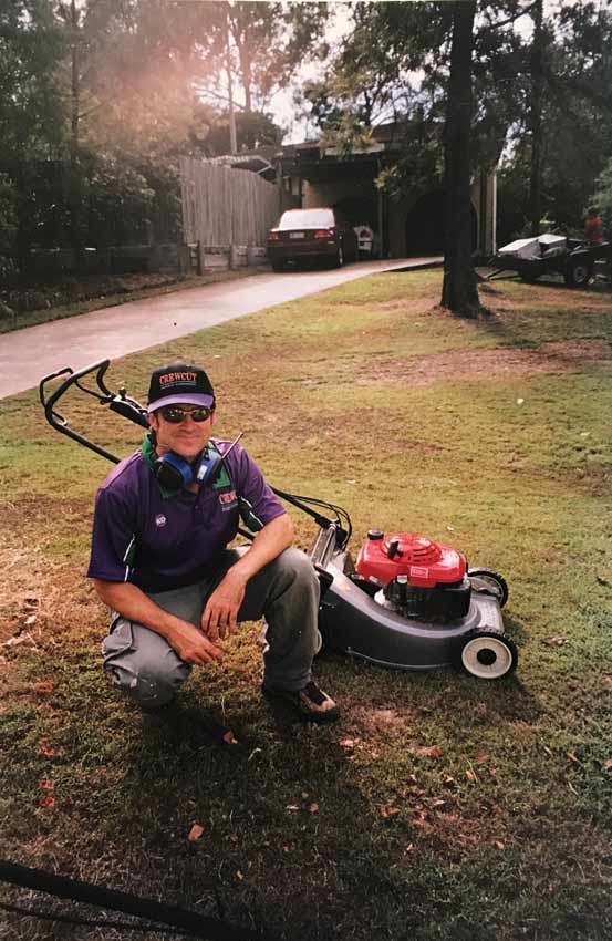 A picture of me back when Crewcut was the new lawn mowing franchise on the block