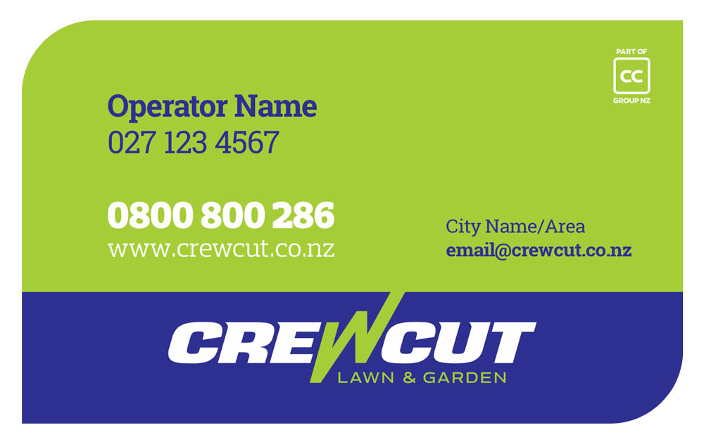A Crewcut business card