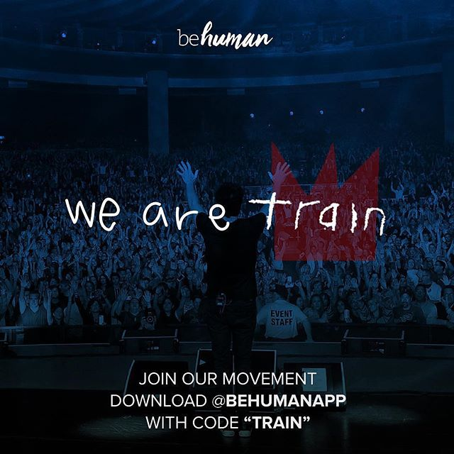"Reposting @train:⠀ ...⠀ ""I recently joined an app called @behumanapp. It's helping spread positivity through the power of sharing thoughtful and inspirational acts on social media, and we all know you can truly never have enough of those. Since Train fans are some of the kindest people in the world, I thought we could help spread the love together. So I'm challenging 200 of you to download the app using code TRAIN (link in bio), and join the We Are Train movement. We'll also be giving one lucky person in the community a pair of tickets + meet and greet to an upcoming show. So download the app today and start spreading the inspiration 💙"" -Pat Monahan"