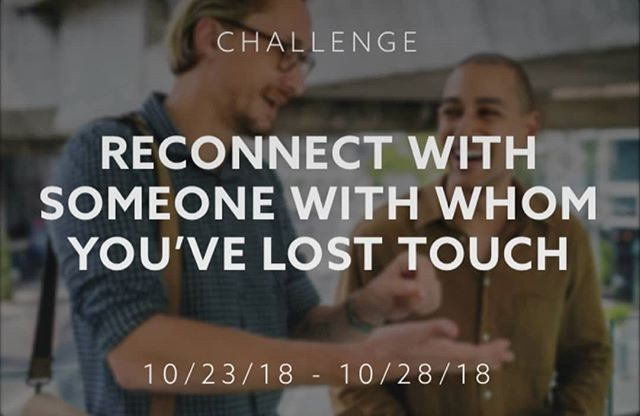 The latest Weekly beHuman Challenge is here!  This week: Reconnect with someone with whom you've lost touch!  Share on #beHuman to inspire other to do the same.  Download beHuman in the App Store.  Pledge, Post & beHuman!  #beHumanWeeklyChallenge #reconnect #friendship #family