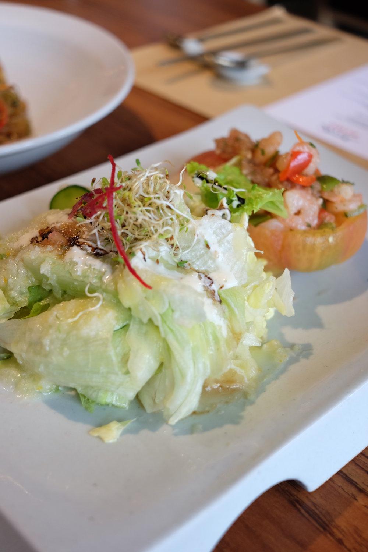 Tomato-Yangsangchu Salad - Seasoned seafood in a whole tomato salad