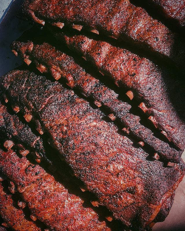 Ribbed. For everyone's pleasure. . . . Excited to fire up the smoker tomorrow at 4 am. Sort of...but there's also something special about that oak smoke in the rain. . . . You know the drill. Brisket. Spare ribs. Beef ribs. . . . #barbecue #bbq #brisket #beefribs #spareribs #heritage  #foodie