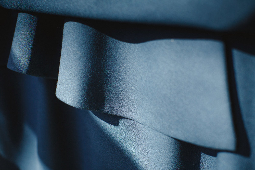 Folds in material