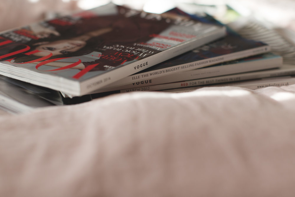 Still-life-detail-of-fashion-magazines-in-a-pile-branding-photoshoot-london