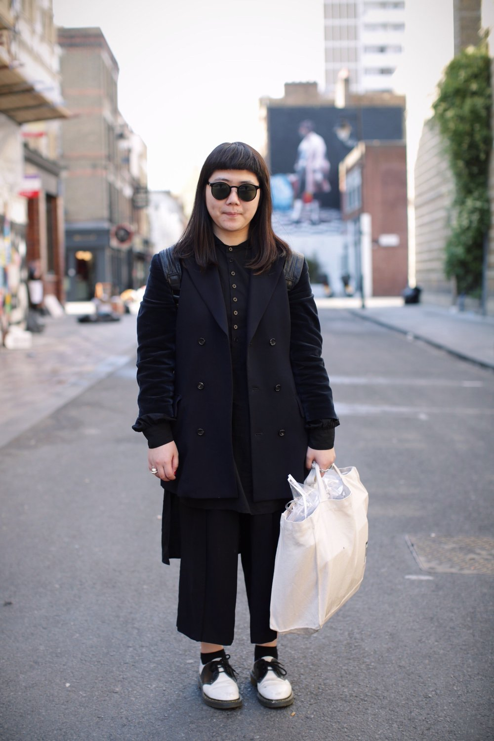 Fan is a menswear designer and currently studying at London College of Fashion. Her favourite menswear of the moment is Comme DeGarçon.