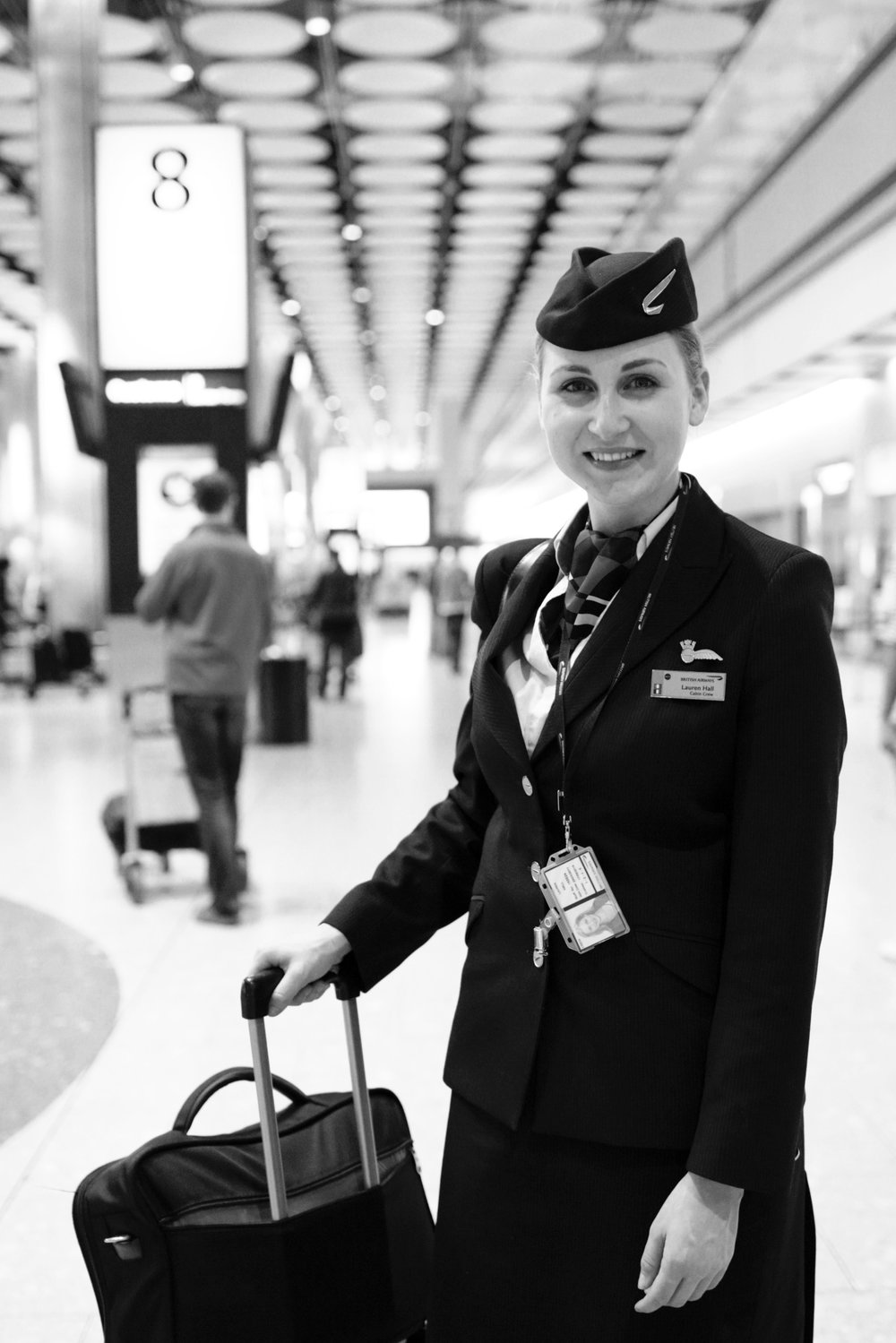 Lauren was very kind to let me take her #portrait straight after a busy night flying from Singapore to London.