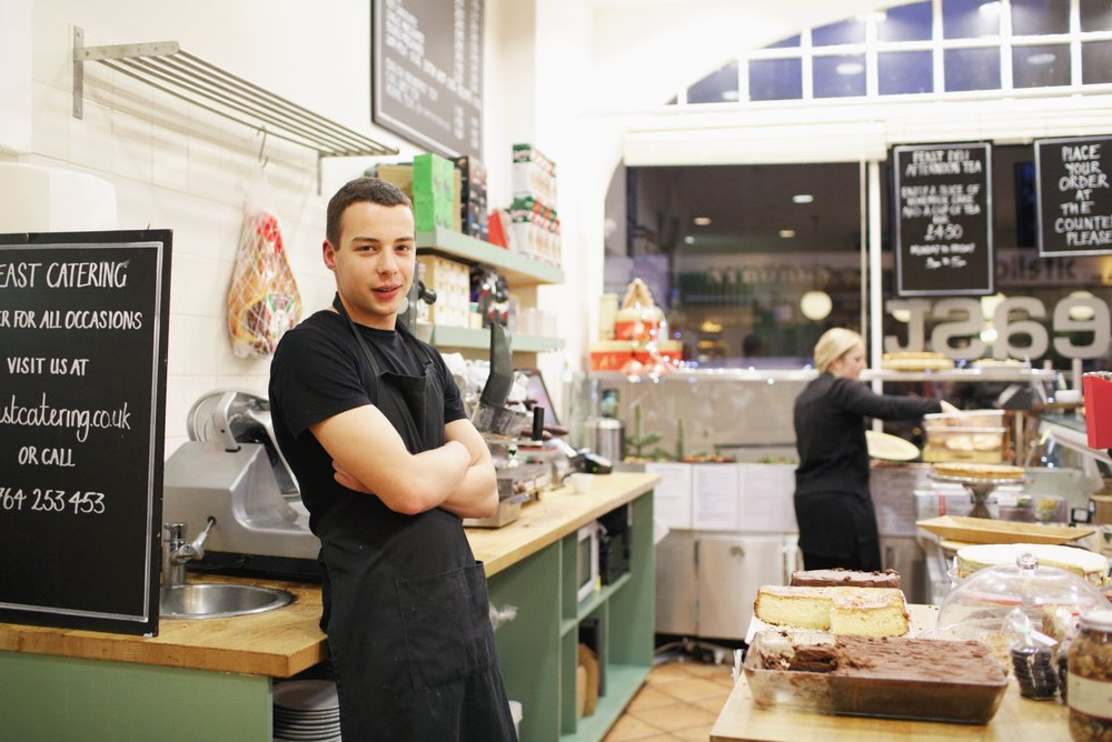 Robert's been working at here for 3 weeks. I couldn't resist asking him about all the tempting cakes. His favourite is carrot cake.