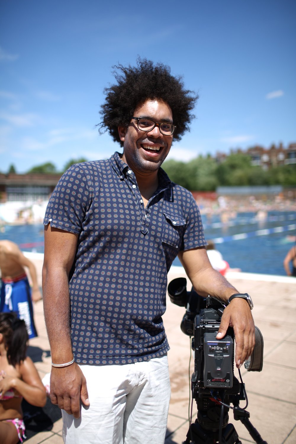 II met Ian at the lido. He's a cameraman and was filming Ellie Simmonds for the SwimBritain Challenge. We didn't have long to chat because Ian was working. He told me that he'd just moved back to London to the very area he grew up in, after living out of town in the countryside. He's rediscovering London again.