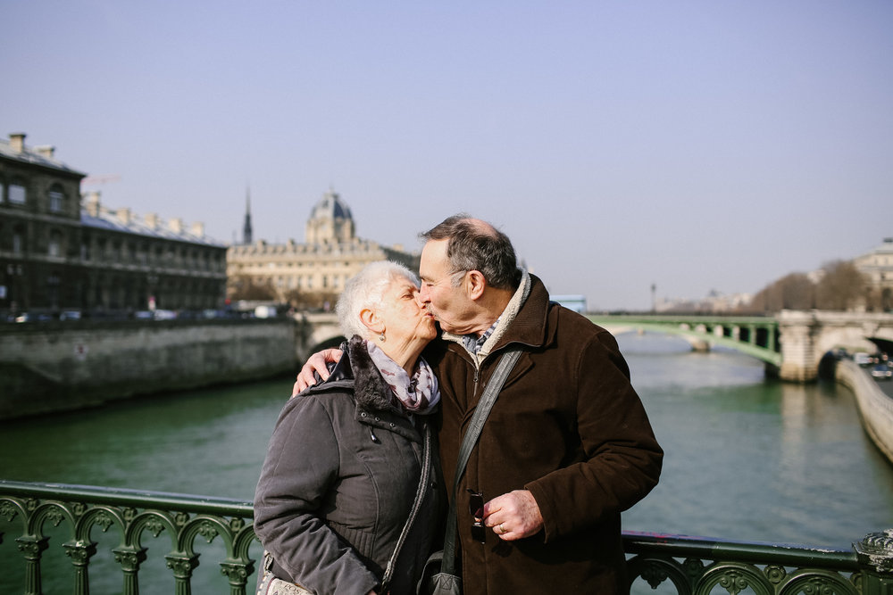 My Mum and Dad had never been to Paris. When Dad was diagnosed with dementia she said she'd love to go with him whilst it was still possible. My sister and I went too to help them get around, it has been so precious spending those days with them both, and my sister, but with him especially. It's tough dealing with the decline of a person you love but I'm more clear than anything that despite the challenges and sadness they still have the most beautiful romance. This photo makes me smile a lot.