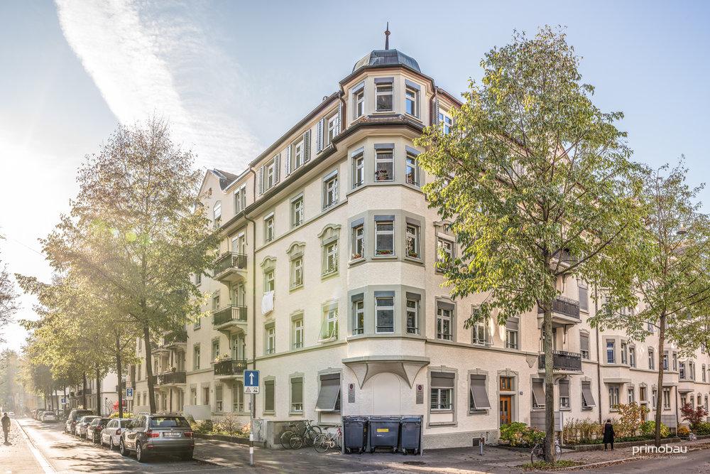 Kreuzplatz, Zürich Hottingen  Totalumbau, Aussenrenovation, Neubau Tiefagarage, 198 Wohnungen