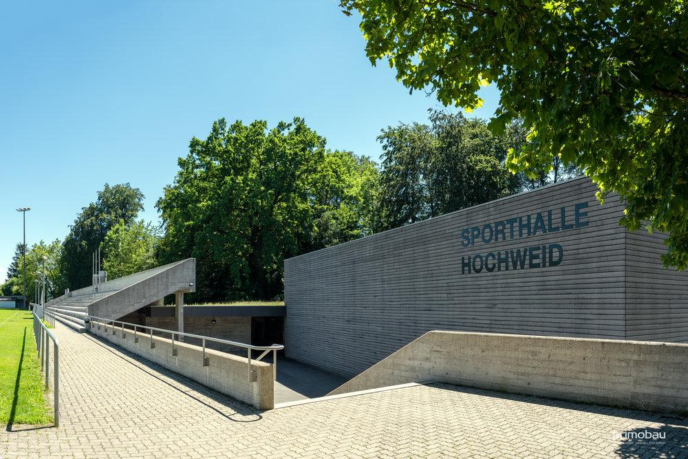 Sportanlage Hochweid, Kilchberg  Innen- und Aussenrenovation, Dreifachturnhalle