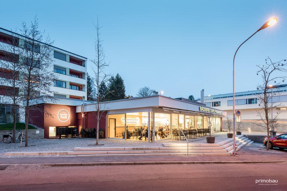 Quartierbeck Frankental, Zürich Höngg  Totalumbau, Bäckerei und Café