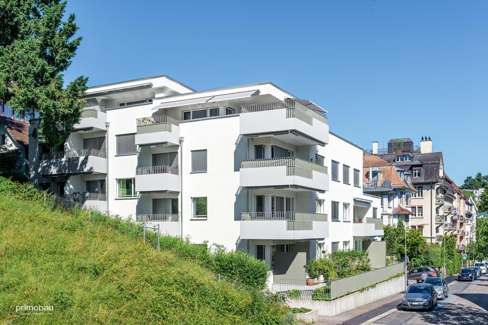 Renggerstrasse, Zürich Wollishofen  Innen- und Aussenrenovation, 13 Wohnungen