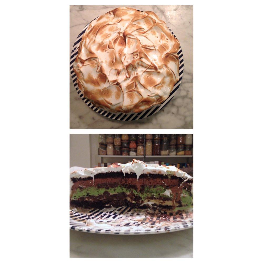 Baked  Alaska Birthday Cake