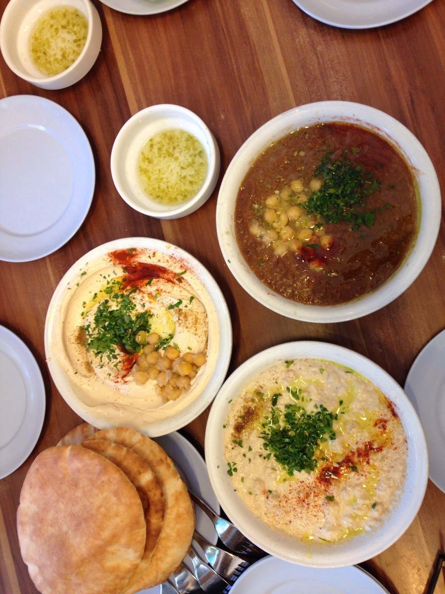Hummus and nothing else at Abu Hassan