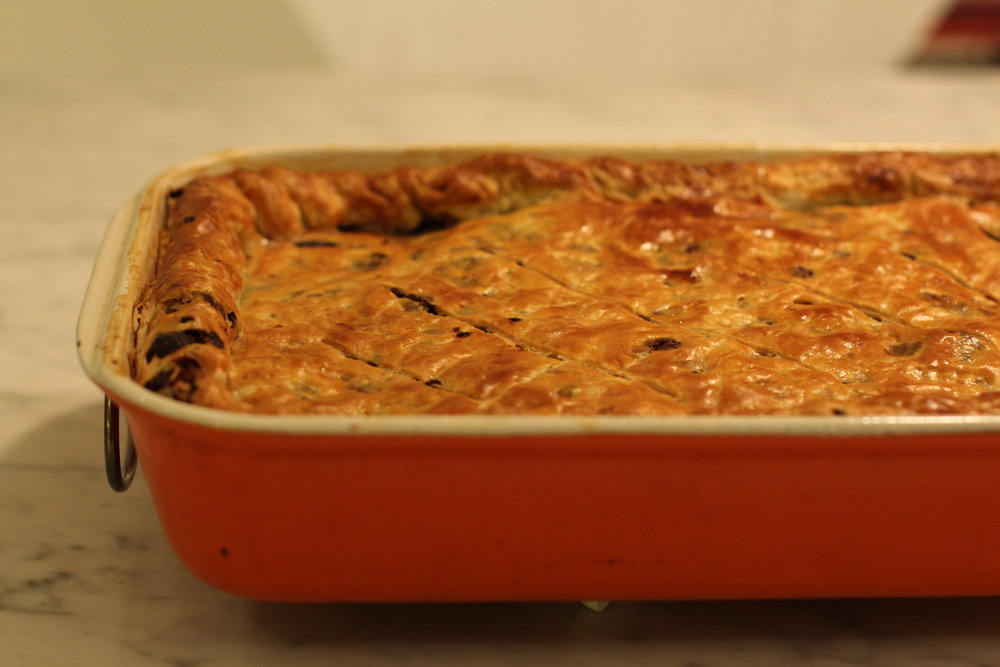 Turkey, Leek and Grainy Mustard Pie