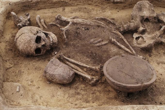 Beaker burial site