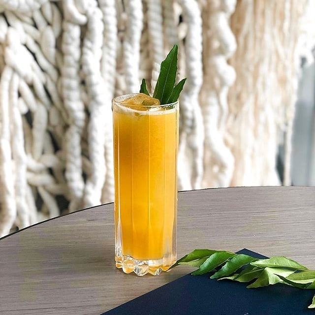 """Good news! Our friends at @flyingfish_au are mixing up a special cocktail for the Australia Day long weekend, including yours truly!  Deliciousness served up - drop them a visit, pals 👌 📸 @flyingfish_au - Introducing """"Gold & Green"""" - The perfect way to celebrate #AustraliaDay long weekend👌🏽 Mixed with Australian made @SmallMouthVodka, Mango, Yuzu, Agave and Lemon Myrtle🍹#FlyingFishAtTheStar . . . . #madeinaustralia #vodka #cocktail #cocktailbar #australia #sydney #craftcocktail #handcrafted #weekend #holidays #australiadayweekend #australiaday #aussievodka #tropical #drink #glutenfree #drinkporn #instadrink #love #preservativefree #bars #smallbatch #photography #design #sydneyaustralia #sydneybars #drinkbettervodka #smallmouthinthewild #smallmouthvodka"""