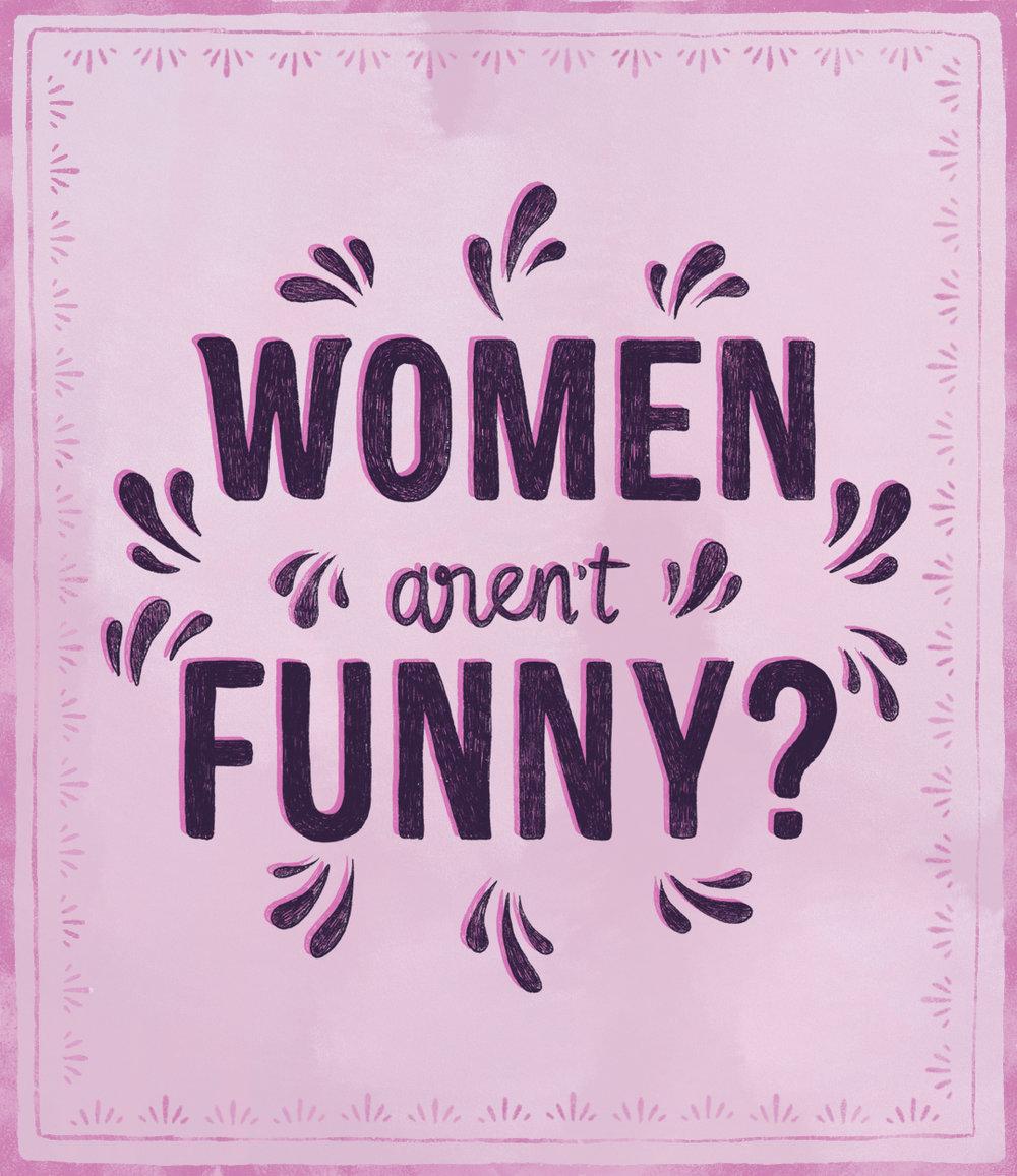 Women Aren't Funny? Series logo (2018)