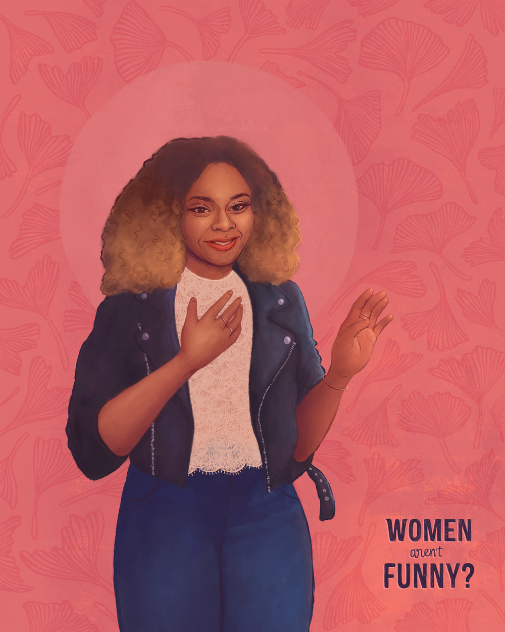 My illustration of Stand up comic Phoebe Robinson (2018)