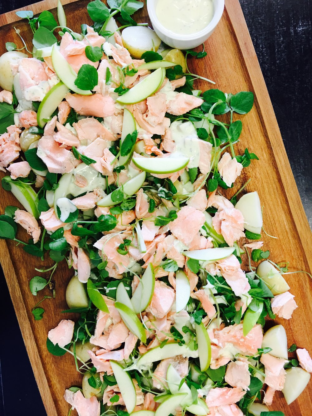 Poached Salmon and Watercress