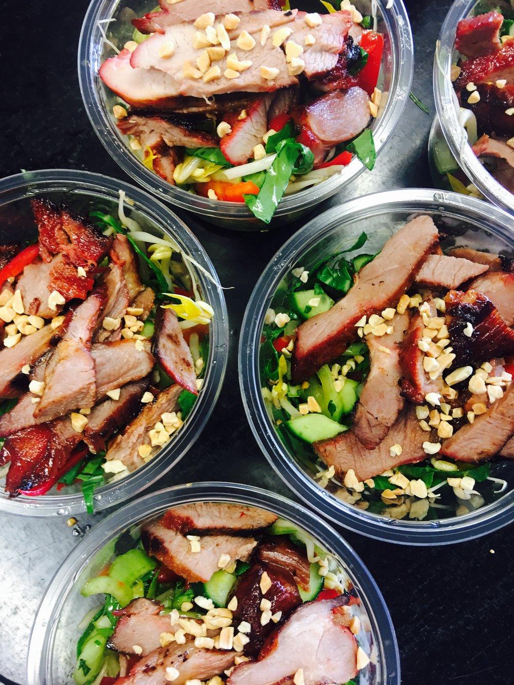 Individual Vietnamese Pork Salads