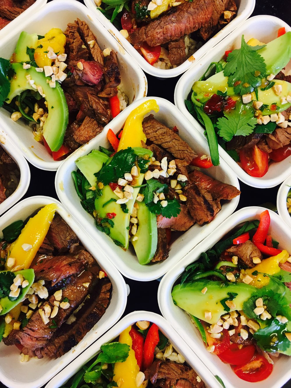 Beef and Mango Salads