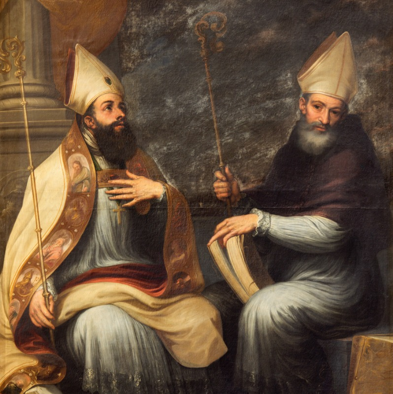 Photo of Saint Ambrose and Saint Augustine - Granada-the-Paint