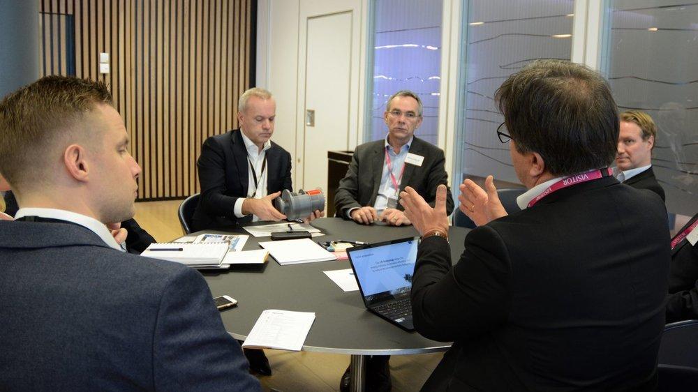 OTECHOS var godt representert hos Equinor med Tor Arne Hauge, Eirik Flatebø, Morten Wiencke og Christoffer Vanay. Foto: Ina Steen Andersen   www.tu.no
