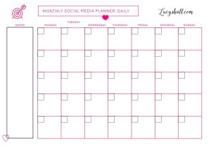 picture regarding Goal Planner Printable titled Social Media Printable Weekly Plans Planner and Every month