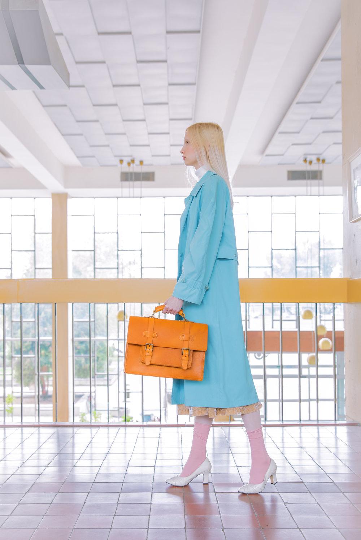 Woman with luxury handbag