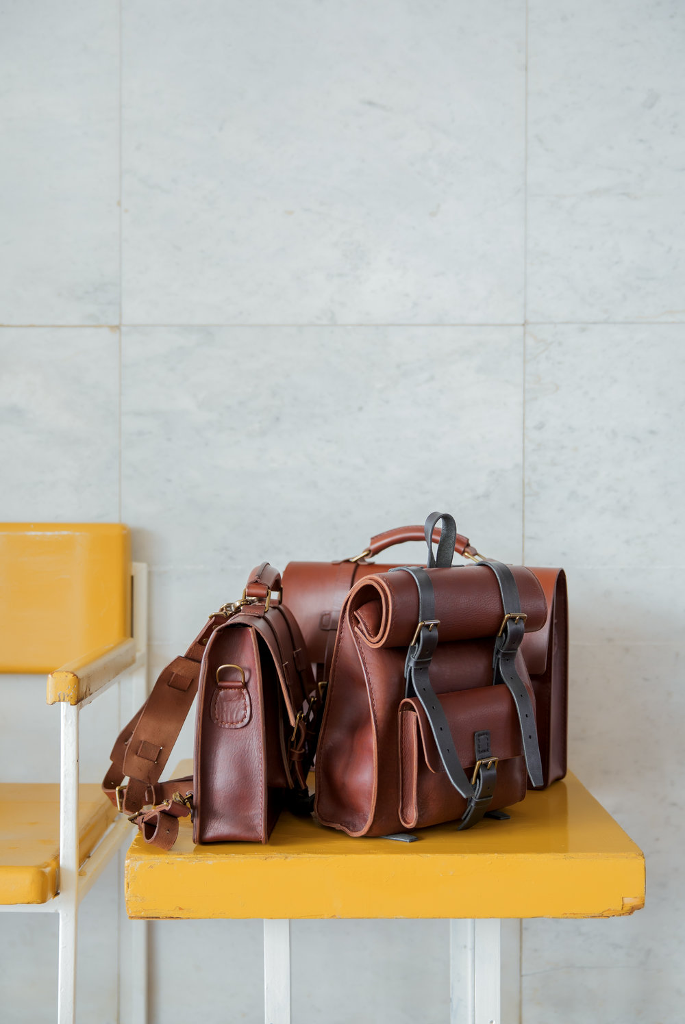 Handmade leather backpacks and messenger bags