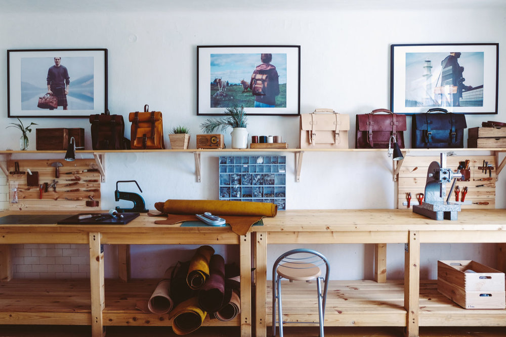 Sustainable family business leather workshop