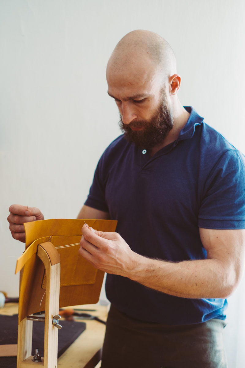 Quality handmade leatherwork and saddle stitching technique